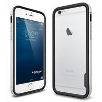 Чехол противоударный SPIGEN Neo Hybrid EX Metal, серебристый для iPhone 6, 6s