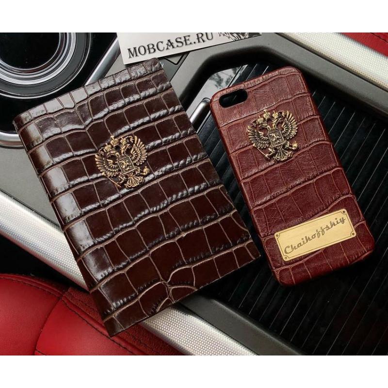 Эксклюзивный чехол, кожаный, коричневый Mobcase 513 для iPhone 7 Plus