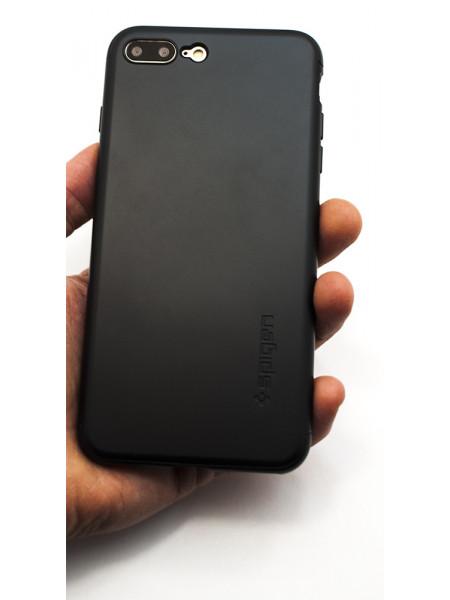 Чехол противоударный, SPIGEN, Air Fit 360, чёрный, для iPhone 7 Plus