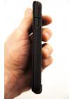 Чехол кожаный Pierre Cardin, flip, чёрный, для iPhone 7