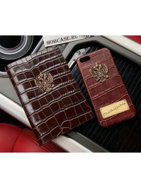 Эксклюзивный чехол, кожаный, коричневый Mobcase 512 для iPhone 7