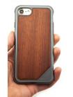 Чехол противоударный, дерево X-Doria Defense Lux для iPhone 7