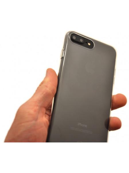 Чехол накладка силиконовая Baseus Simple прозрачная для iPhone 8 Plus