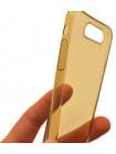 Чехол накладка силиконовая Baseus, Simple, золотая, для iPhone 8 Plus
