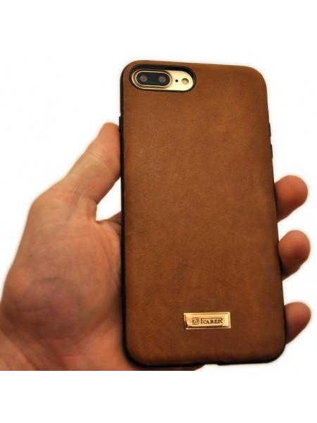 Чехол накладка iCarer Shenzhou коричневая для iPhone 8 Plus
