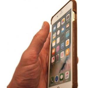 Чехол накладка Pierre Cardin, коричневая, для iPhone 8 Plus