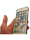 Чехол накладка Pierre Cardin, серая, для iPhone 8 Plus