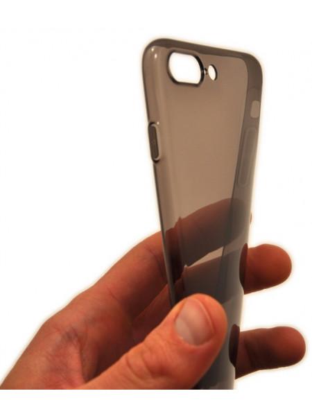 Чехол накладка силиконовая Baseus Simple чёрная для iPhone 8 Plus