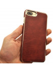 Чехол накладка Xoomz Electroplating красная для iPhone 8 Plus
