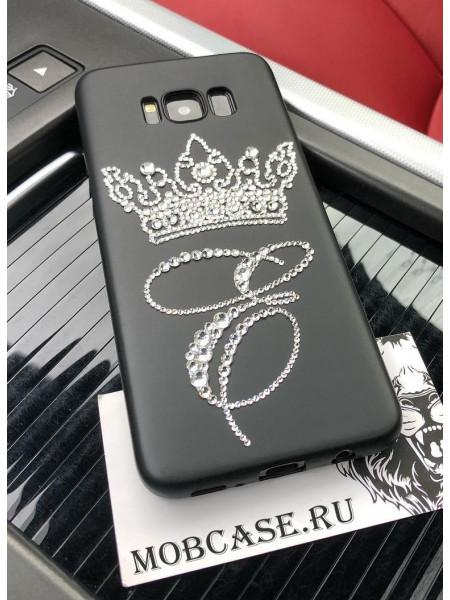 Именной клип кейс, с короной из кристаллов Mobcase 581, для iPhone 7 Plus, 8 Plus
