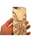 Чехол накладка Kingxbar чёрная птица феникс для iPhone 8 Plus