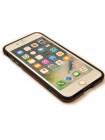 Чехол бампер металлический Luphie Bicolor чёрно-красный для iPhone 8 Plus