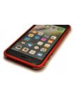 Чехол бампер металлический Luphie Bicolor красный для iPhone 8 Plus