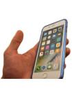 Чехол бампер металлический Luphie, Bicolor, синий, для iPhone 8 Plus
