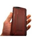 Чехол кожаный раскладушка Pierre Cardin, flip, красный, для iPhone 8 Plus