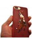 Чехол накладка POLO RACQUET CLUB Jockey красная для iPhone 8 Plus