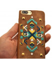 Чехол накладка POLO & RACQUET CLUB коричневая для iPhone 8 Plus