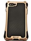 Чехол противоударный R-Just Amira золотой для iPhone 8 Plus