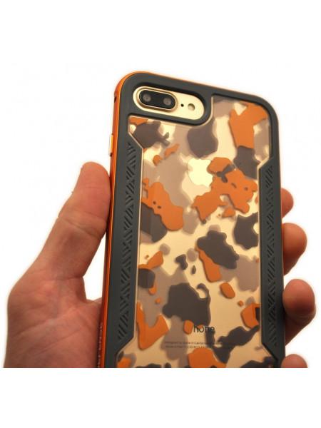 Чехол противоударный X-Doria Defense Shield, оранжевый для iPhone 8 Plus
