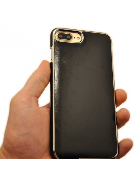 Чехол накладка Xoomz Electroplating чёрная для iPhone 8 Plus