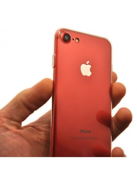 Чехол силиконовый Baseus тонкий, бесцветный для iPhone 8