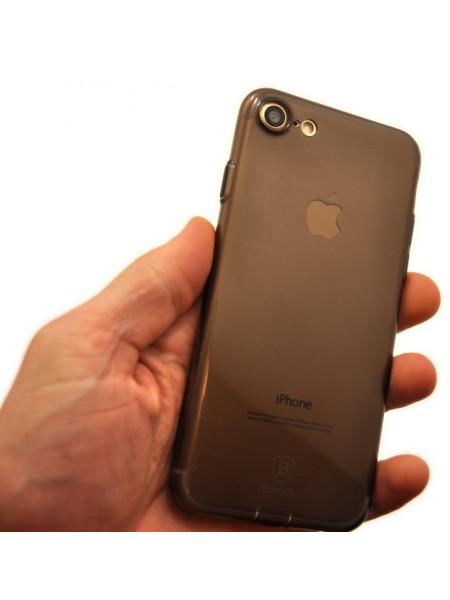 Чехол силиконовый Baseus тонкий, чёрный для iPhone 8