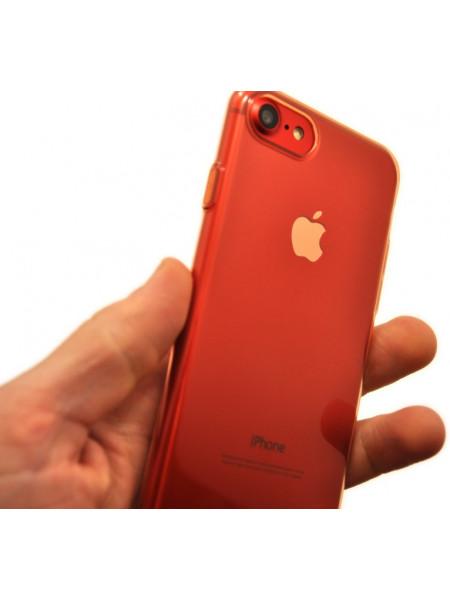 Чехол силиконовый Baseus тонкий, розовый для iPhone 8
