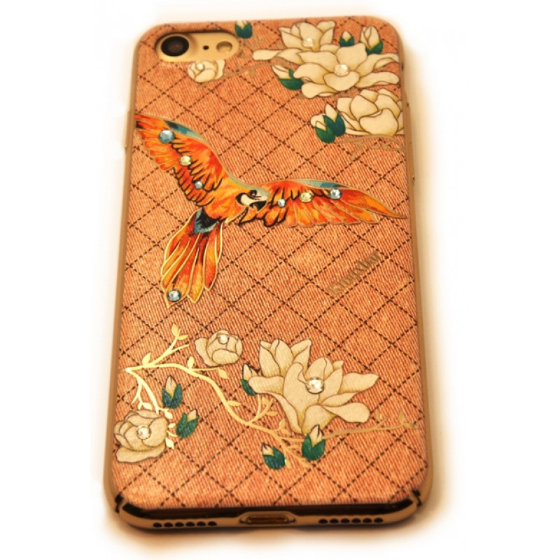 Чехол накладка Kingxbar Fairy Land, попугай для iPhone 8