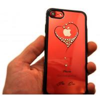 Чехол накладка Kingxbar Sky Gold чёрное сердце для iPhone 8