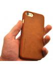 Чехол книжка коричневая Nillkin Qin для iPhone 8