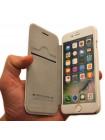 Чехол книжка кожаный Nillkin Qin, белый для iPhone 8