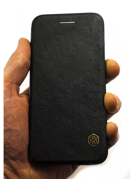 Чехол книжка Nillkin, Qin, чёрный, для iPhone 8