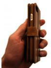 Чехол книжка кожаный, коричневый Pierre Cardin для iPhone 8