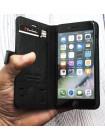 Чехол книжка Pierre Cardin, чёрный, кожаный для iPhone 8