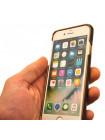 Чехол накладка кожаная Pierre Cardin, коричневая для iPhone 8