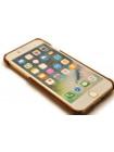 Чехол накладка кожаная Pierre Cardin, светло-коричневая для iPhone 8