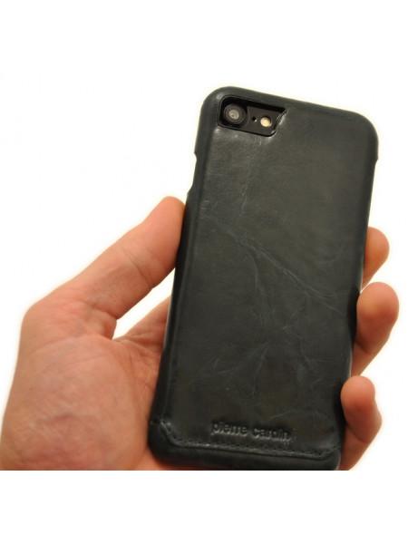 Чехол накладка кожаная Pierre Cardin зелёная для iPhone 8