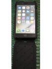 Чехол раскладушка, кожаный, чёрный Pierre Cardin flip для iPhone 8