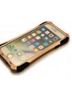 Чехол противоударный R-Just Amira чёрно-золотой для iPhone 8