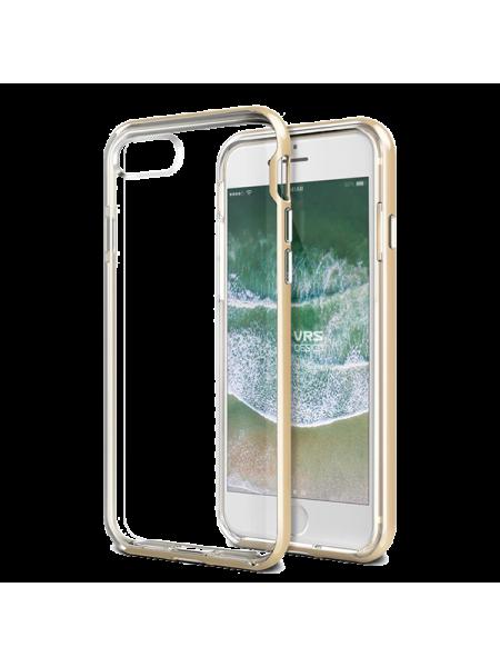 Чехол клип кейс, VRS Design New Crystal, золотой для iPhone 8
