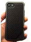 Чехол противоударный, чёрный, карбоновый X-Doria Defense Lux для iPhone 8