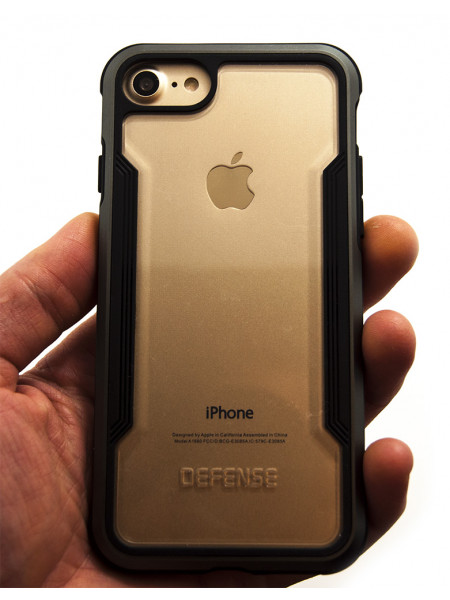 Чехол противоударный, чёрный X-Doria Defense Shield для iPhone 8