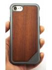Чехол противоударный, дерево X-Doria Defense Lux для iPhone 8