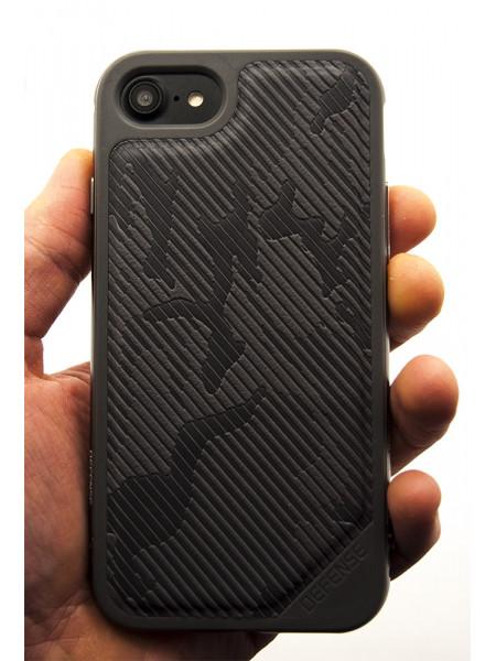 Чехол противоударный, серый X-Doria Defense Lux для iPhone 8