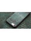 Чехол накладка Gera Хамелеон, кожаный, чёрный, для iPhone SE