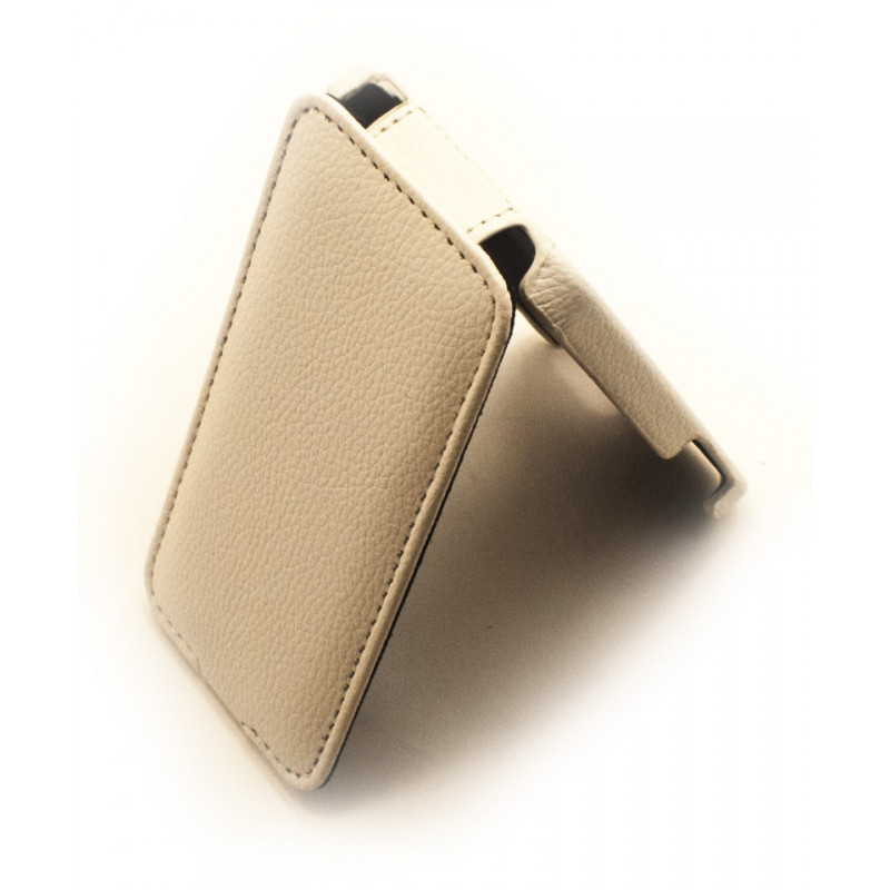 Чехол раскладушка Melkco, кожаный, белый, для iPhone SE