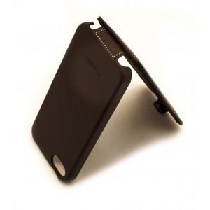 Чехол раскладушка Melkco, кожаный, коричневый, для iPhone SE