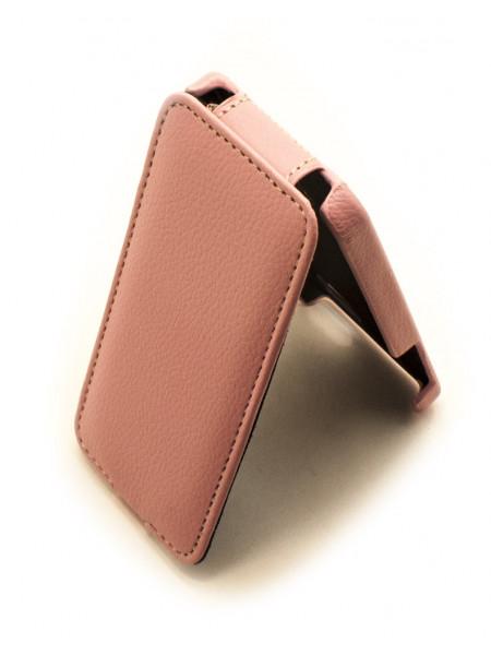 Чехол раскладушка Melkco, кожаный, розовый, для iPhone SE