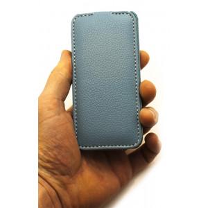 Чехол раскладушка Melkco, кожаный, синий, для iPhone SE
