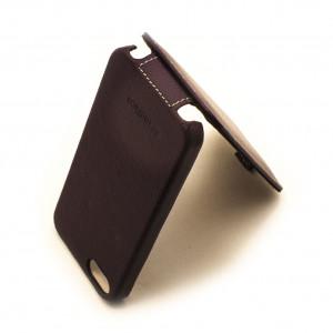 Чехол раскладушка Melkco, кожаный, сиреневый, для iPhone SE